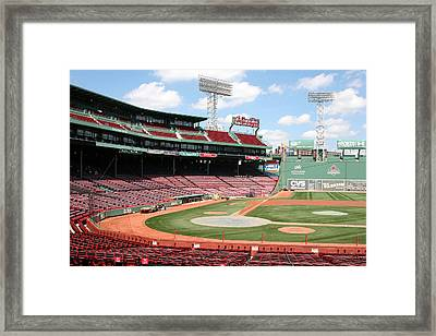 Fenway Park 8 Framed Print by Kathy Hutchins