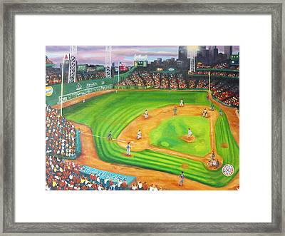 Fenway Park Fantasy Framed Print by Michell Givens