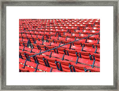 Fenway Park Grandstand Seats I Framed Print by Clarence Holmes