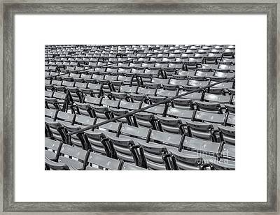 Fenway Park Grandstand Seats II Framed Print by Clarence Holmes