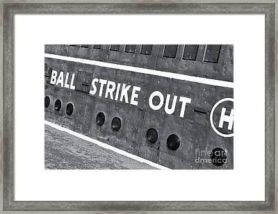 Fenway Park Green Monster Scoreboard Iv Framed Print by Clarence Holmes