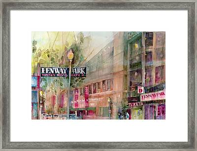 Fenway Park Home Of The World Champs Red Sox Framed Print by Dorrie Rifkin