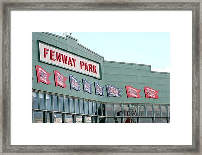 Fenway Park Framed Print by Kathy Hutchins