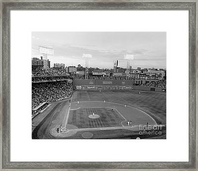 Fenway Park Photo - Black And White Framed Print by Horsch Gallery
