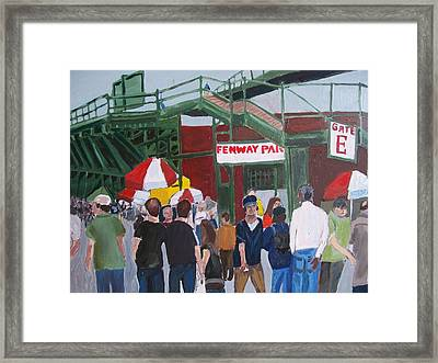 Fenway Park Spring Time Framed Print by Carmela Cattuti