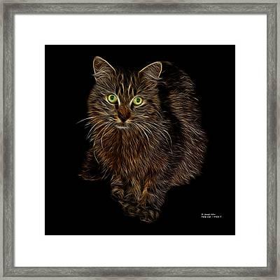Feral Cat - 9905 F Framed Print by James Ahn