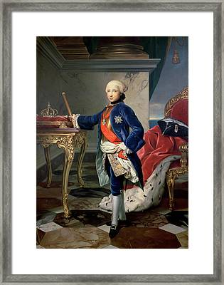 Ferdinand Iv, King Of Naples Framed Print by Anton Raphael Mengs