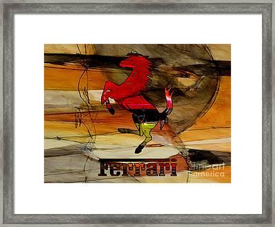 Ferarri Framed Print by Marvin Blaine