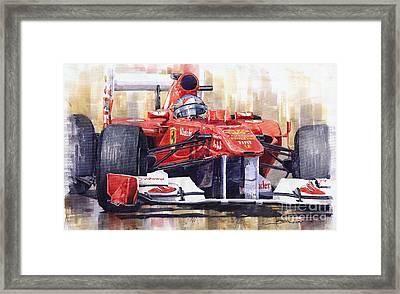 Ferrari 150 Italia Fernando Alonso F1 2011  Framed Print by Yuriy  Shevchuk