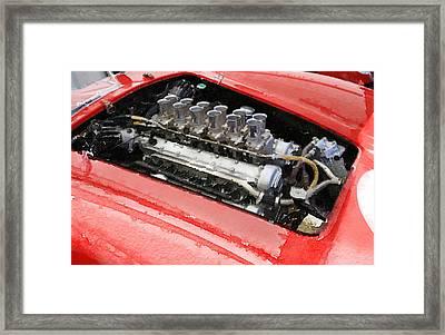 Ferrari 250 Gto Engine Watercolor Framed Print by Naxart Studio