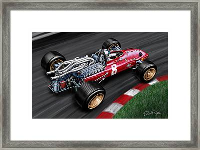 Ferrari 312 F-1 Car Framed Print by David Kyte