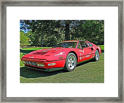 Ferrari 328 Spyder Framed Print by Samuel Sheats