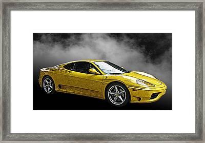 Ferrari 360 Modena Side View Framed Print by Samuel Sheats