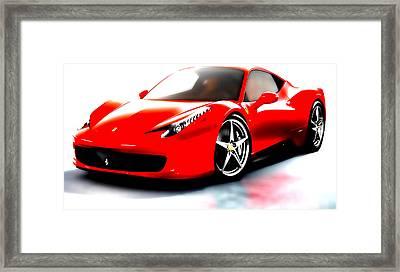 Ferrari 458 Framed Print by Brian Reaves