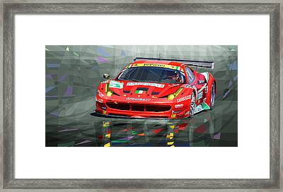 Ferrari 458 Gtc Af Corse Framed Print by Yuriy  Shevchuk