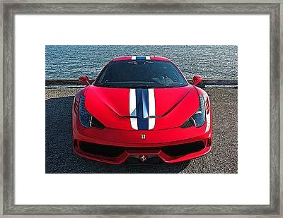 Ferrari 458 Speciale Framed Print by Samuel Sheats