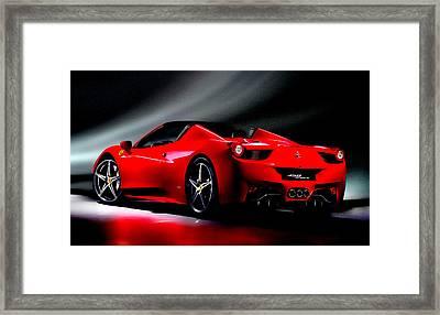 Ferrari 458 Spider Framed Print by Brian Reaves