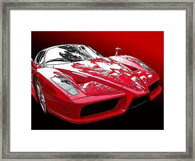 Ferrari Enzo Front Study Framed Print by Samuel Sheats