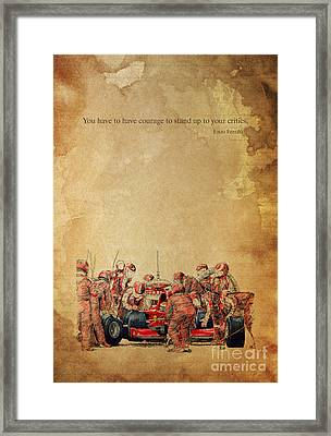 Ferrari F1 Pits Framed Print by Pablo Franchi