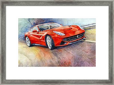 Ferrari F12 Berlinetta 2014 Framed Print by Yuriy Shevchuk