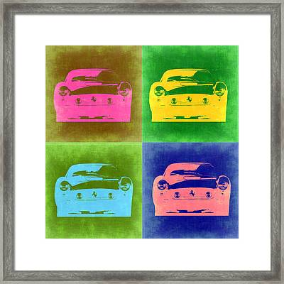 Ferrari Front Pop Art 3 Framed Print by Naxart Studio