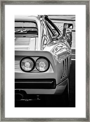 Ferrari Gto 288 Taillight -0631bw Framed Print by Jill Reger
