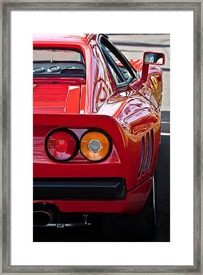 Ferrari Gto 288 Taillight -0631c Framed Print by Jill Reger