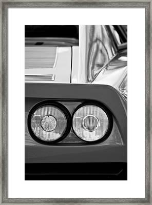 Ferrari Gto 288 Taillight -0635bw Framed Print by Jill Reger