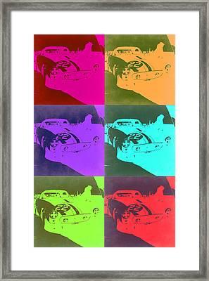 Ferrari Gto Pop Art 3 Framed Print by Naxart Studio