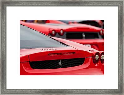 Ferrari Rear Emblems Framed Print by Jill Reger