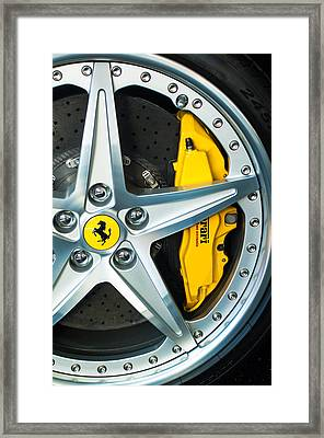 Ferrari Wheel 3 Framed Print by Jill Reger
