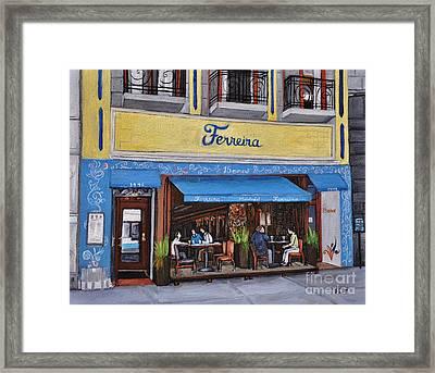 Ferreira Cafe  Framed Print by Reb Frost