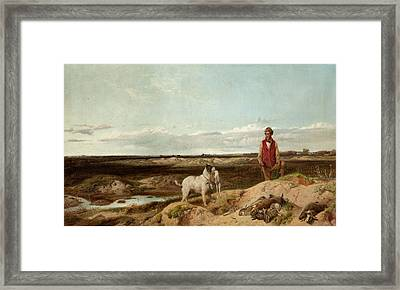 Ferreting Framed Print by Richard Ansdell