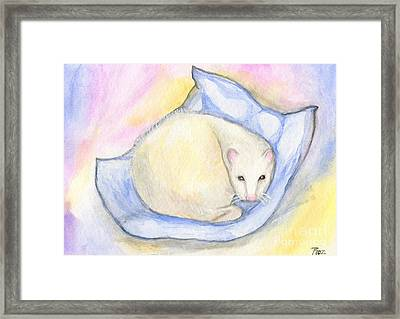 Ferret's Day Off Framed Print by Roz Abellera Art