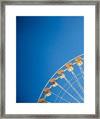 Ferris Wheel 1 Framed Print by Rebecca Cozart