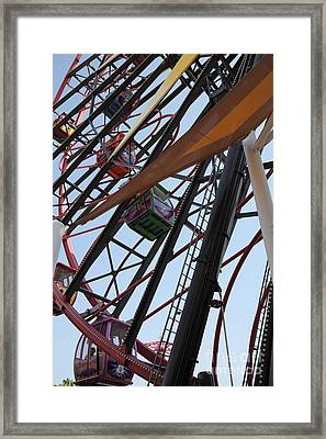 Ferris Wheel - 5d17604 Framed Print by Wingsdomain Art and Photography