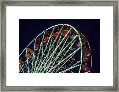 Ferris Wheel After Dark Framed Print by Joe Kozlowski