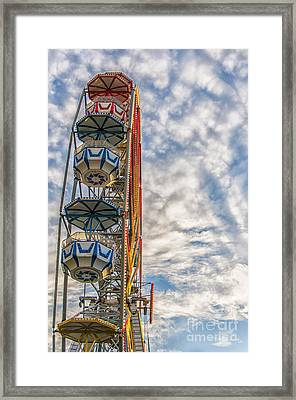 Ferris Wheel Framed Print by Antony McAulay