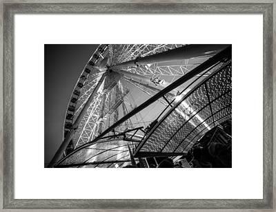 Ferris Wheel Framed Print by Judith Barath