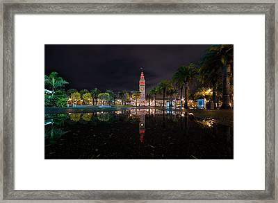 Ferry Building Water Reflection  Framed Print by David Yu