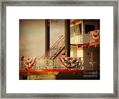 Ferry Bunting Framed Print by Valerie Reeves