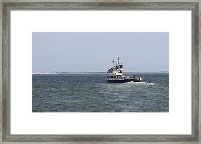 Ferry To Ocracoke 2 Framed Print by Cathy Lindsey