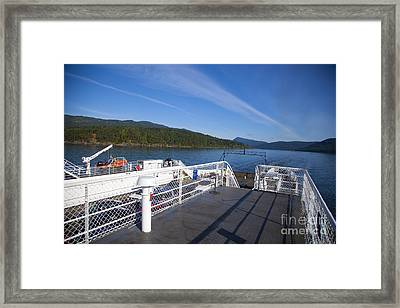 Ferry With Maxwell Framed Print by Graham Foulkes