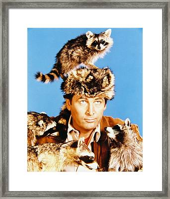 Fess Parker In Davy Crockett, King Of The Wild Frontier  Framed Print by Silver Screen