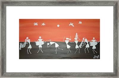 Festival In Warali Village Framed Print by Dipali Deshpande