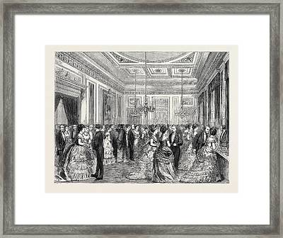 Festivities At Fishmongers Hall, The Court Dining Room Framed Print by English School