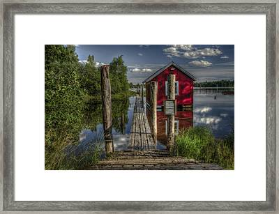 Fetsund Timber Booms Part II Framed Print by Erik Brede