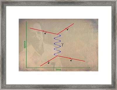 Feynman Diagram Framed Print by Ram Vasudev