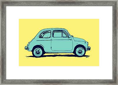 Fiat 500 Framed Print by Giuseppe Cristiano