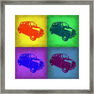 Fiat 500 Pop Art 1 Framed Print by Naxart Studio